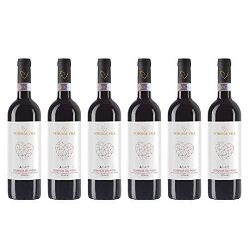 Vino Rosso Agape Cesanese Del Piglio Docg Superiore   2016   Petrucca e Vela - 6 Bottiglie