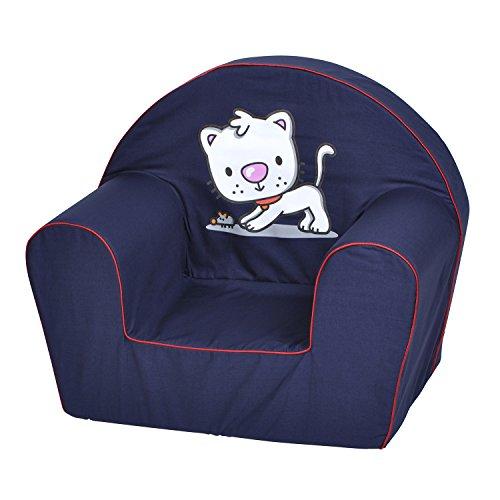 KNORRTOYS.Com 68309 - Poltrona per Bambini con Gatto Stampato, Colore: Blu