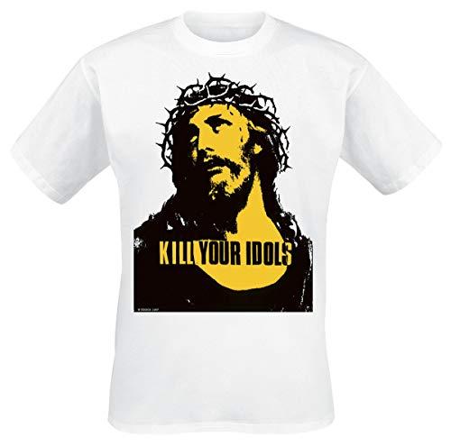 Kill Your Idols Uomo T-Shirt Bianco M 100% Cotone Regular