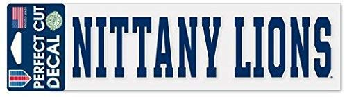 WinCraft NCAA Penn State University Nittany Lions 3  x 10  Perfect Cut Decal