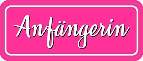 Fahrzeug-Aufkleber Anfängerin I 20 x 8 cm I Vorsicht Achtung Fahranfänger I rosa I Fahrzeug-StickerI wetterfest selbstklebendI kfz_896