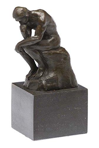 aubaho Bronze Denker Bronzeskulptur Bronzefigur nach Rodin Skulptur Kopie Replik