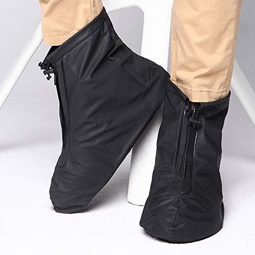林ファッションPVC滑り止め防水厚底靴カバーサイズ:XXL(黒) WXW (Color : Black)