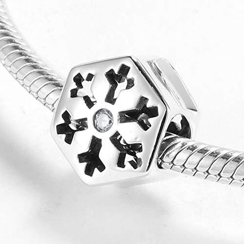 WYKDOY Perlen Winter Schneeflocke 925 Sterling Silber perlen schmuck Machen fit original Charme DIY Frauen armbänder armreifen