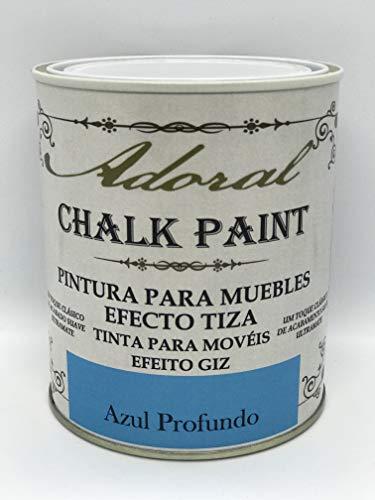 Pintura A La Tiza Azul Intenso Marca ADORAL