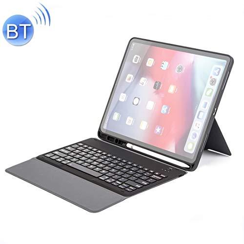 WURONGCHAO H12 - Funda ultrafina para iPad Pro de 12,9 pulgadas (2018), teclado de piel con función atril