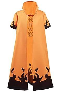 Kids 4th Hokage Cloak Jacket Robe Minato Namikaze Cape Kimono Anime Cosplay Costume Outfit  X-Large 6th Hokage