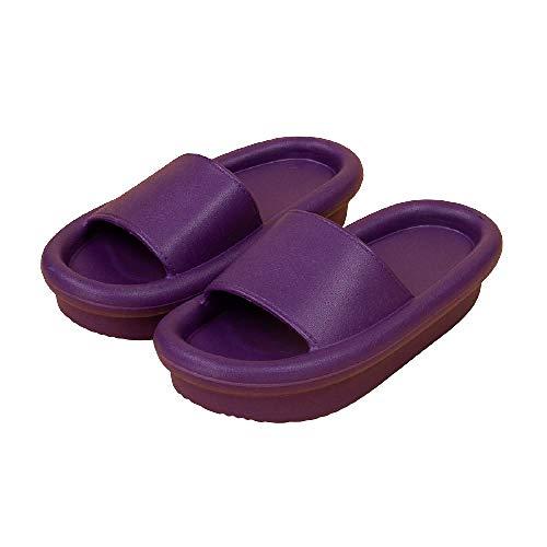 XZDNYDHGX Zapatos De Piscina para NiñA,Zapatillas de Plataforma Gruesa para Mujer, baño Interior, Diapositivas para el Piso del hogar, Zapatos de Verano para Mujer, púrpura EU 40-41