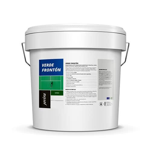 PINTURA PISTAS DEPORTIVAS, pavimentos deportivos en general. Protege y decora las superficies de hormigón, cemento y asfalto (13 Litros - 20 Kilos, Verde Fronton)