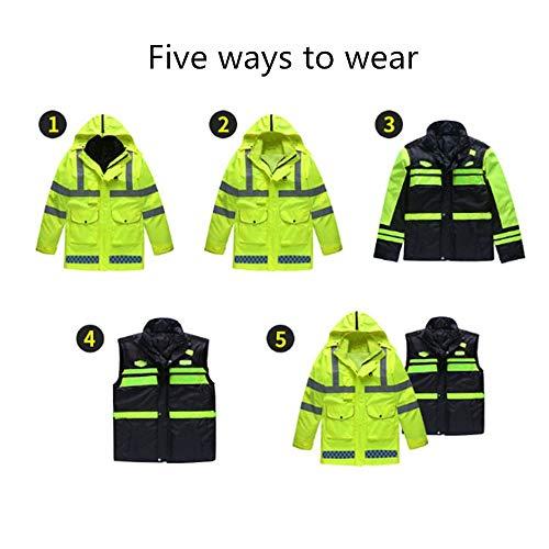 Indumenti riflettenti, Giacca ad alta visibilità con removibili Liner Cinque modi di indossare abbigliamento da lavoro ad alta visibilità Giacca Acqua