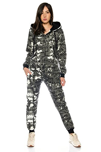 Crazy Age Jumpsuit Overall met letter-design knuffelig en warm