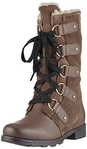 Sorel Womens Emelie Lace Outdoor Winter Lace Up Closed Toe Ankle Boots - Major - 10