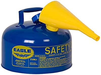 Eagle UI-25-FSB Blue with Funnel Metal Safety Gas Can, 2.5 gal Capacity