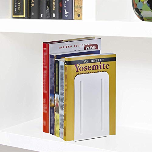Acrimet Premium Metal Bookends (Heavy Duty) (White Color) (1 Pair) Photo #2