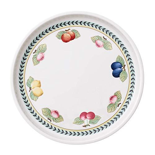 Villeroy & Boch French Garden Plat de service, 30 cm, Porcelaine Premium, Blanc/Multicolore