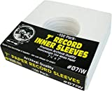 (100) Archival Quality Acid-Free Heavyweight Paper Inner Sleeves for 7' Vinyl Records #07IW