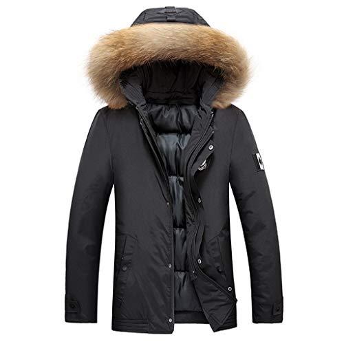 Cappotto da Uomo in Pelle Autunno Inverno Vintage Zip Up Collare in Similpelle Cappotto in Cotone Caldo Felpa con Cappuccio Colore Solido Inverno Casual Nuovi Uomini di Moda