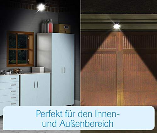 MediaShop Panta Safe Light 2er Set – LED Strahler für innen und außen – Außenleuchten mit Bewegungsmelder und Tageslichtsensor – wetterfeste LED Außenbeleuchtung – 2 Stk. - 4