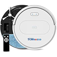 SUMGOZED BO11 Robot Vacuum Cleaner and Mop Combo for Hard Floor, Tile, Low Pile Carpet, Pet Hair (White)
