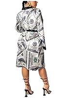 cheelot Women's Cozy Printed Cardi Long-Sleeve Sleep Robe Lounger Chemise AS4 XS
