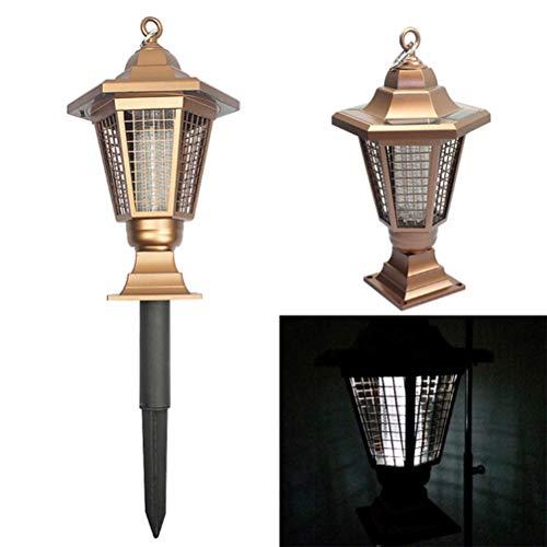 Urisgo Solar Gartenlampe, Mückenschutzlicht im Freien Anti-Mücken Rasen Gartenlicht Bug Zapper für Garten, Patio