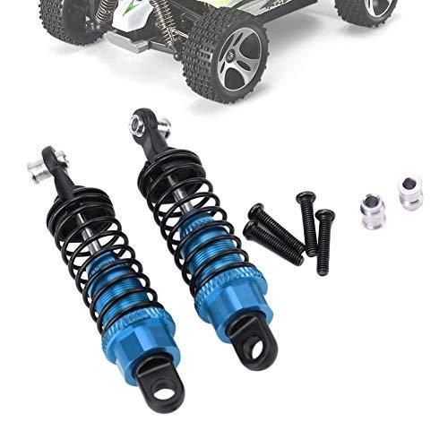 RC Stoßdämpfer, 2 Stück RC Metall Stoßdämpfer Dämpfer Upgrade Ersatz Kompatibel mit WLtoys A959 1/18 RC Car(Blau)