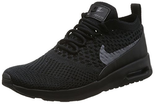 Nike Air MAX Thea Ultra Flyknit, Zapatillas para Mujer, Negro (Black/Dark Grey), 38 EU