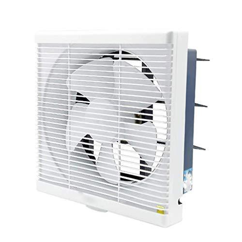 FENXIXI Ventilador de ventilación a través de la pared, ventilador de escape cuadrado blanco, ventilador de escape de bajo ruido para baño y cocina