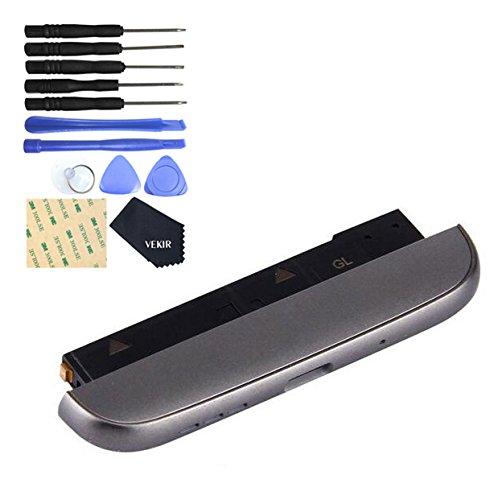 Schwarz USB Ladebuchse mit Bodenabdeckung Mikrofon + Lautsprecher Ringer Buzzer Modul Ersatz für LG G5 LS992 (Sprint)