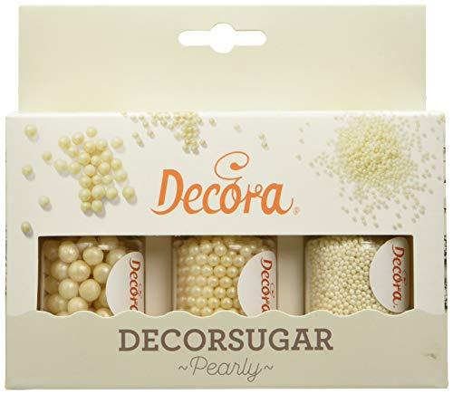 Decora Set 80 G Perle e Perline Bianco Perla in Zucchero