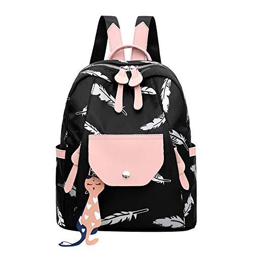 XMXYLP Sac À Dos Travel Unisexe Sac À Dos pour Femme Big Travel Bag Sac À Dos Mi-Long Sac À Dos Étudiant Noir