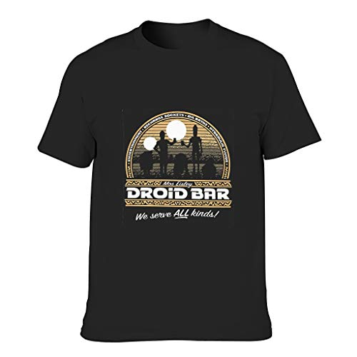 Camiseta de algodón Alien Bar hombres suave Slim-Fit Alien Movies Tee Negro Negro L