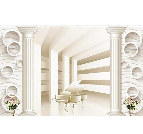 Zybnb Wall Decoration Roman Spalte Raum Zur Erweiterung Der Piano Tv Hintergrundbild 3D Wandbild Tapete-280X200Cm
