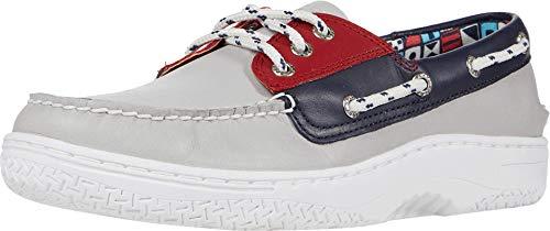 Sperry Men's Billfish Plushwave Boat Shoe, Red/White/Blue, 9 M US