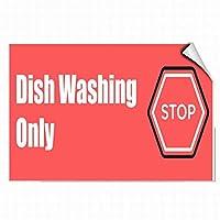 新しいブリキの看板皿洗いは、壁の装飾のためのビジネスの安全性アルミニウム金属看板を停止するだけです8x12インチ