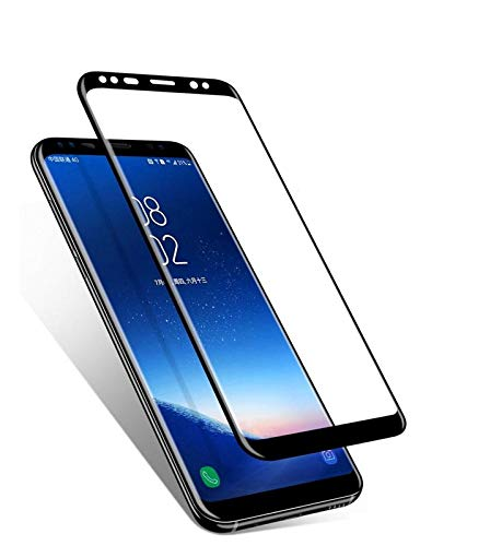 Blue Blood® [Samsung Galaxy S8] 3D Touch Screen Protector Tempered Glass 9H Hardness Gorilla Glass Screen Guard for Samsung Galaxy S8 Black − List 2134