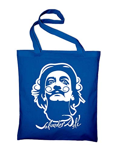 Styletex23 Salvador Dali Jutebeutel Shopping Bag, royalblue