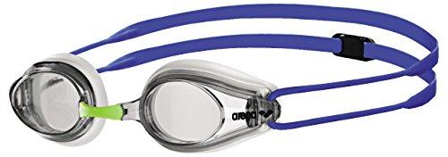 Arena Tracks Goggles, Adultos Unisex, White-Clear-Blue, TU