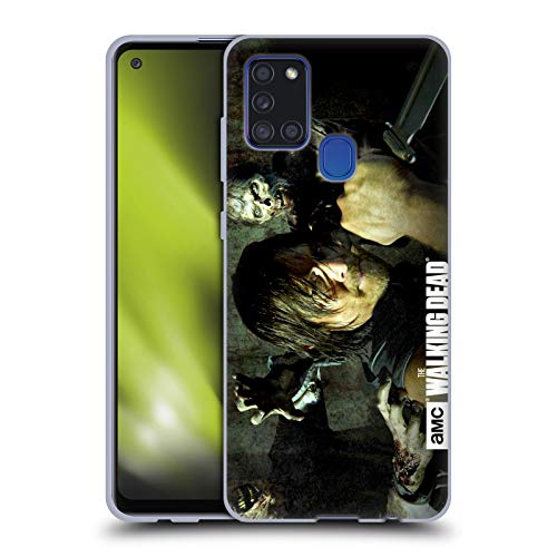 Head Case Designs Officially Licensed AMC The Walking Dead Daryl Knife Walkers and Characters Soft Gel Case Compatible with Samsung Galaxy A21s (2020)