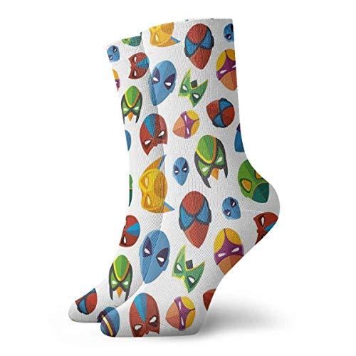Chaussettes amusantes pour femme avec personnages de dessin animé légendaire Batman, Spider-Man, 30 cm