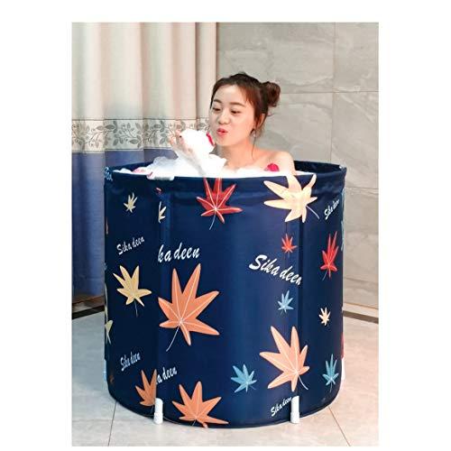 SHATONG-inflatable bathtub Faltbare badewanne verdicken Haushalt körper Erwachsene badewanne Kunststoff tragbare badewanne freistehende einweichen duschwanne Whirlpool (Color : 65 * 70cm)