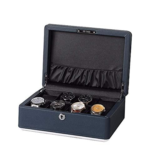 WOZUIMEI Caja de Reloj de 8 Ranuras, Organizador, Colector, Caja de Reloj de Pulsera de Madera, Caja Organizadora de Joyas, Caja para Relojes, Pulseras, Broches para Mujer