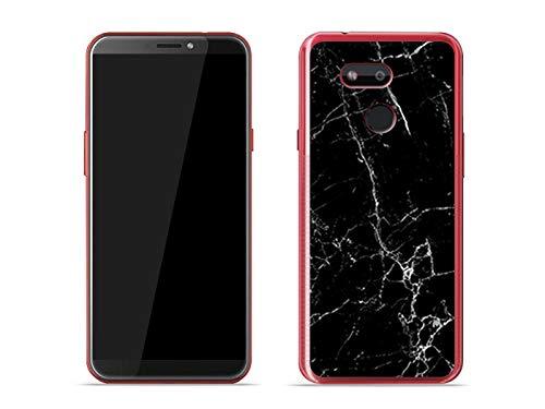 etuo Handyhülle für HTC Desire 12s - Hülle Fantastic Hülle - Schwarze Marmor - Hülle Schutzhülle Etui Hülle Cover Tasche für Handy