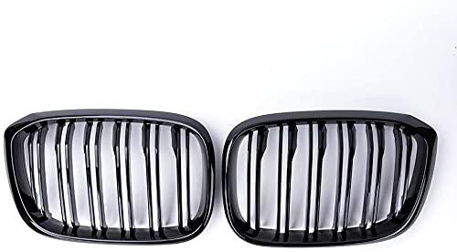 Auto Front Kühlergrille, für BMW G01 G02 G08 X3 X4 2017-2021 Kühlergrill Niere Grill Doppel Lamellen Glanz Schwarz Auto Styling Auto Zubehör Frontstoßstange Radiator Autozubehör