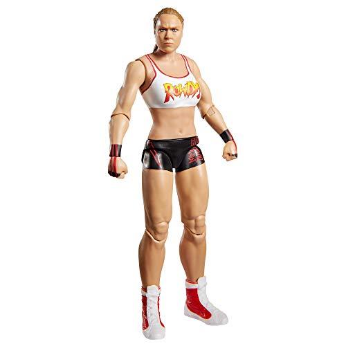 WWE GKT06 - Bewegliche Ronda Rousey WWE-Actionfigur (15 cm) im Wrestling-Look, Spielzeug ab 6 Jahren