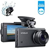 KingSlim 2.5K ドライブレコーダー 前後カメラ 1440x1080P FHD超高画質 SONY製センサー デュアルStarvis 赤外線 前後170度広角 G-sensor/駐車監視/衝撃録画 車載カメラ D2