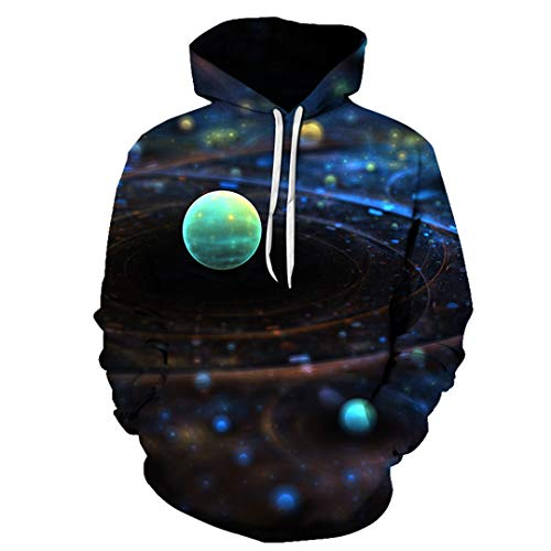 Sweatshirt Hoodies Men Space Astronaut 3D Print Hoody Lost in Space Tracksuit WNT148 6XL