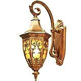 Luz de la pared europea Villa decorada con lámpara de pared exterior Lujosa Luz de Luz de Luz de Pared Al Aire Libre Exterior Linterna Linterna Impermeable Sconce Porch Lights Montaje de pared con som