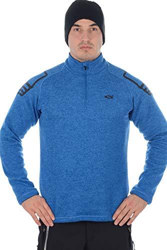 Stayer Pullover Herren-Pulli Skirolli Sweater Ski-Hemd Winter-Rollkragen-Pulli Langarm Blau (S)