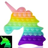 Luximi – Pop IT unicornio – Sensory Fidget Toy – Fluo – Popit juguete antiestrés para niños adultos – Arco en cielo – Push Pop Bubble – Juguete educativo multicolor – burbujas para apretar – Poppit